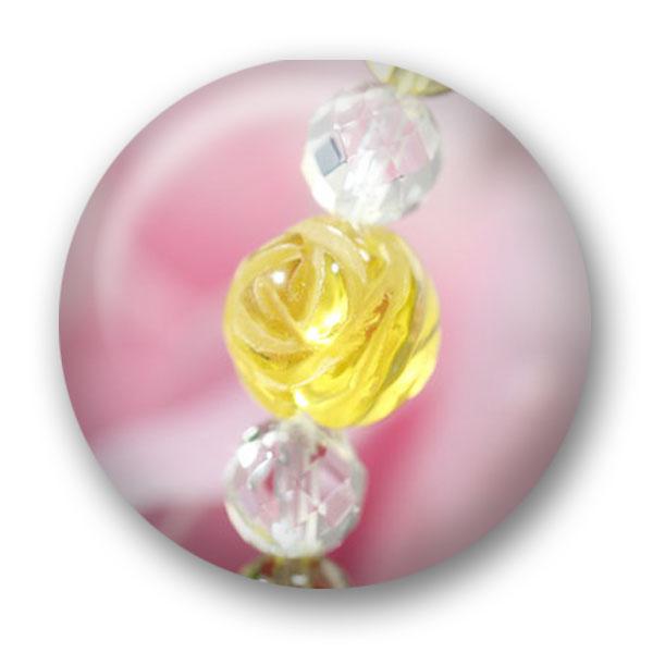 天然石アクセサリー 薔薇ブレス